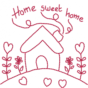 Home sweet home - Redwork